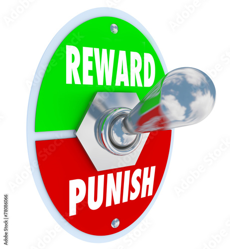 Photo Reward Vs Punish Toggle Switch Lever Discipline Lesson