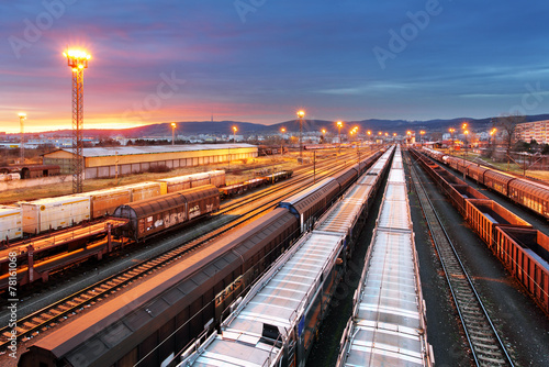 Stampa su Tela Train freight - Cargo railroad industry