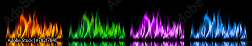 Fire flames on a black background #78217841