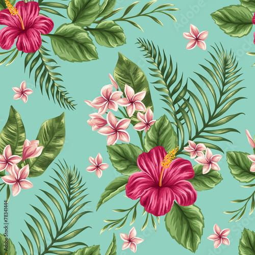Carta da parati Floral seamless pattern