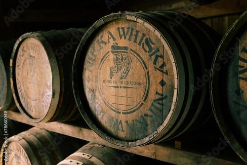 ウィスキー醸造樽 Fototapete