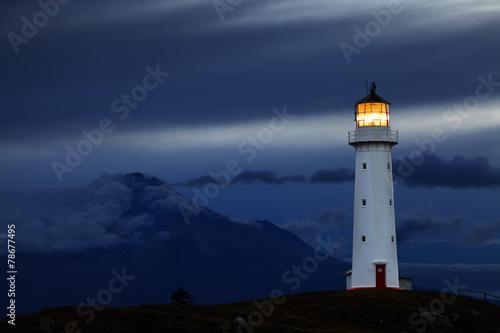 Canvas Print Cape Egmont Lighthouse, New Zealand