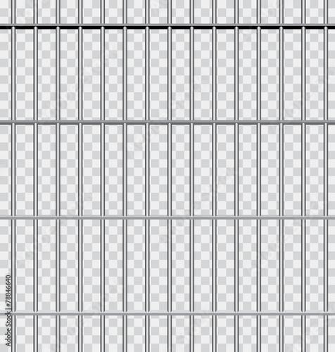 Slika na platnu in jail transparent