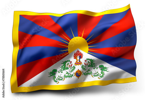 Slika na platnu flag of Tibet