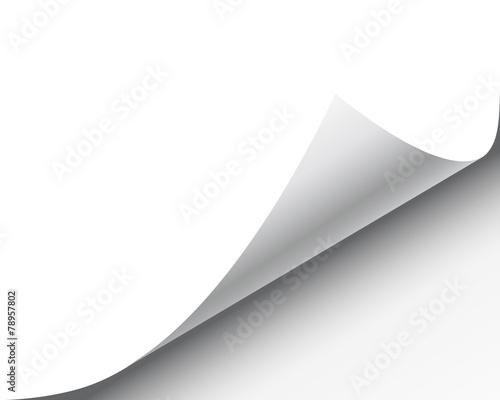 Obraz na plátně Page Curl