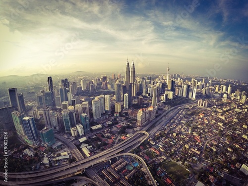 Photo kuala lumpur city from aerial view
