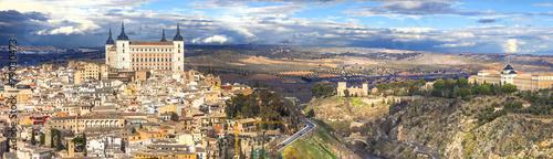 beautiful panorama of Toledo, Spain