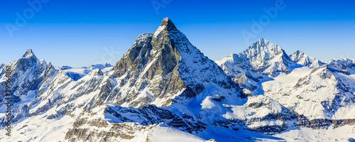 Obraz na plátne Matterhorn, Swiss Alps - panorama