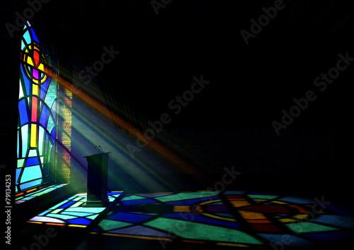 Obraz na plátne Stained Glass Window Church