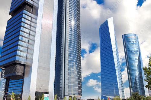 Skyscrapers Cuatro Torres Business Area in Madrid, Spain #79190238