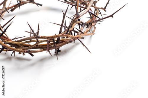 A crown of thorns on a white background - Easter. religion. Tapéta, Fotótapéta