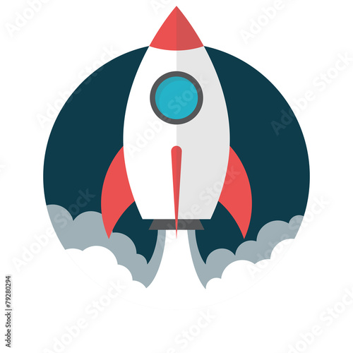 Stampa su Tela Rocket launch