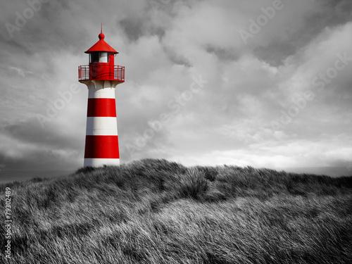 Canvas Print Rot-Weißer Leuchtturm