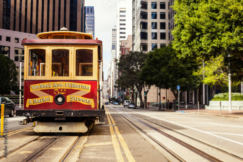 Canvas Print Cable Car in San Francisco