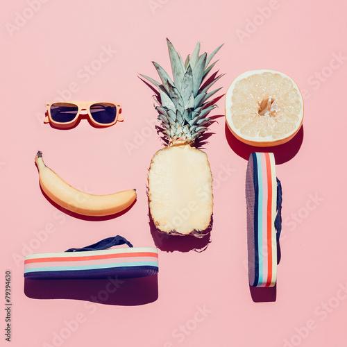 Obraz na płótnie Letni zestaw plażowy