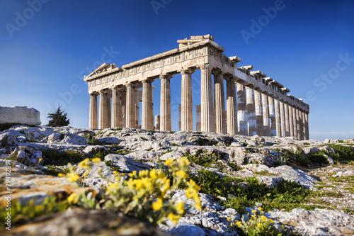 Parthenon temple  on the Athenian Acropolis in  Greece