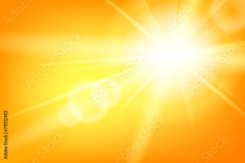 Fotografie, Obraz Nature sunny abstract summer background with sun