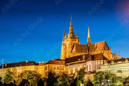 Fototapeta Prague castle during evening hours