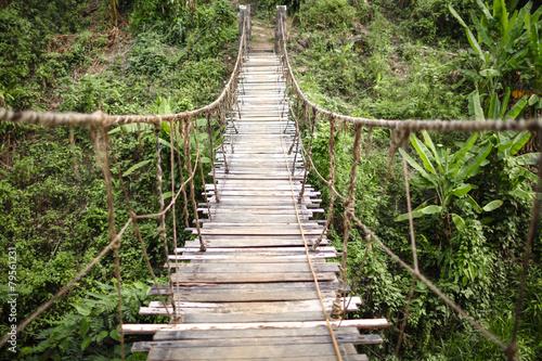 Most wiszący poziomy