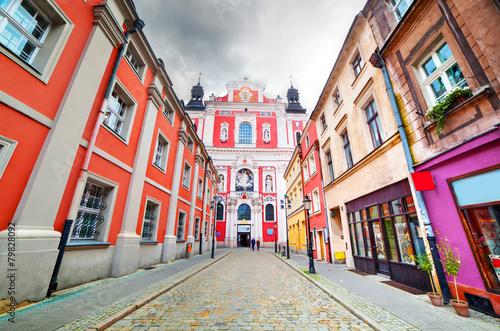 Baroque Collegiate Church in Poznan, Posen, Poland