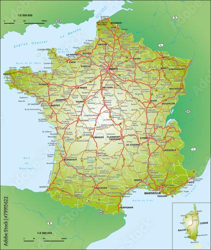 Obraz na płótnie Frankreich 1:3,3 Mio