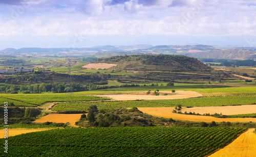 Rural landscape in La Rioja