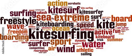 Kitesurfing word cloud concept. Vector illustration #80099492