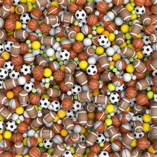 Sport balls on the floor