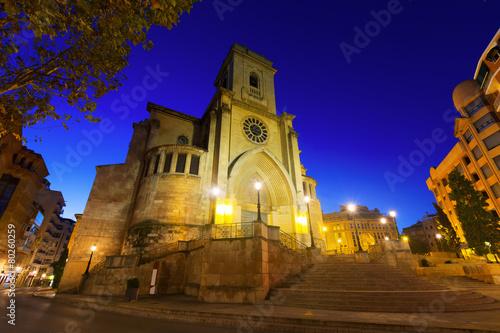 Cathedral of San Juan de Albacete in evening
