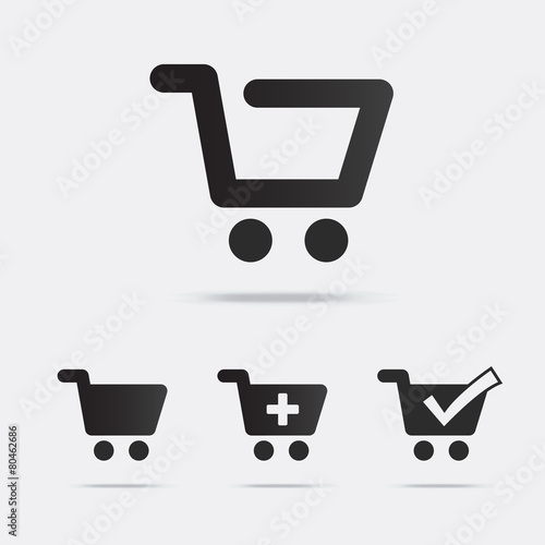 Fotografie, Obraz Shopping Cart Icons