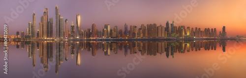 The beauty panorama of Dubai marina. UAE #80470609