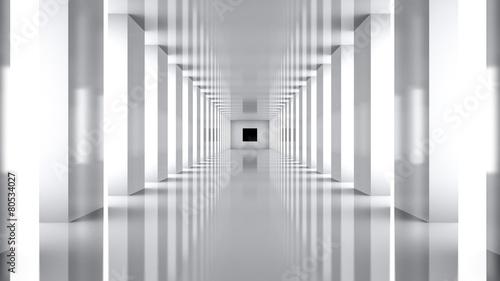 Futuristic. 3D. Futuristic Hallway