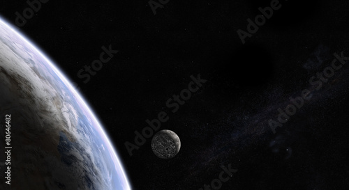 Rising Moon in space #80646482