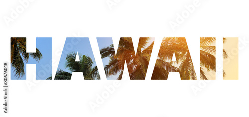 Canvas Print Background with word Hawaii