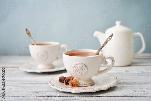 Fotografie, Obraz šálek čaje