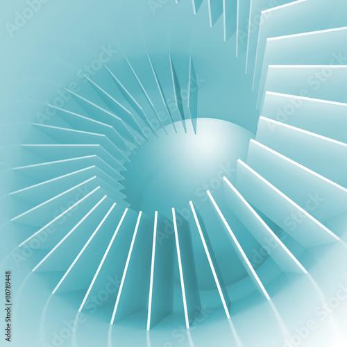 Abstrakcjonistyczna błękitna i biała spirali struktury perspektywa