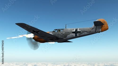 Fotografering Messerschmitt Bf 109 Airplane in dogfight