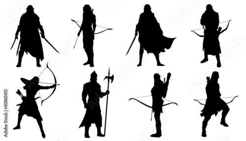Canvas Print elf silhouettes