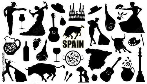 Fototapeta premium sylwetki hiszpanii
