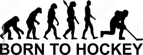Canvas Print Born to Hockey Evolution