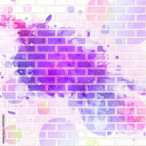 brick wall, graffiti