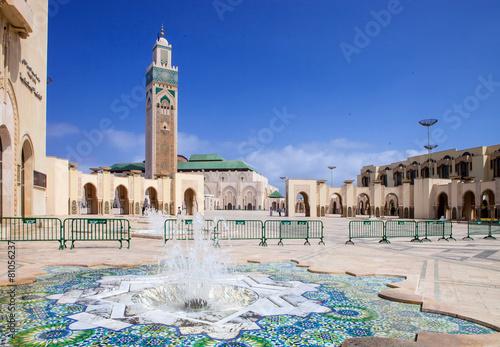 beautiful  mosque Hassan second, Casablanca, Morocco