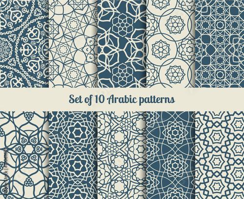 Photographie Vector arabic patterns