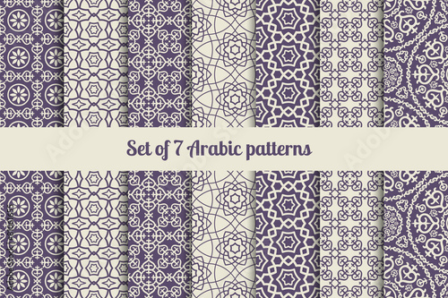 Fotomural Arabic patterns set