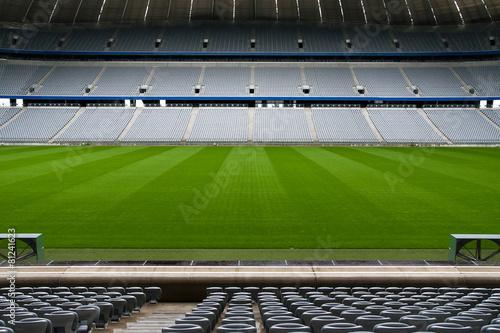 Fototapeta premium Pusty stadion piłkarski