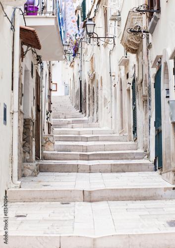 Street in Vieste, Puglia, Italy