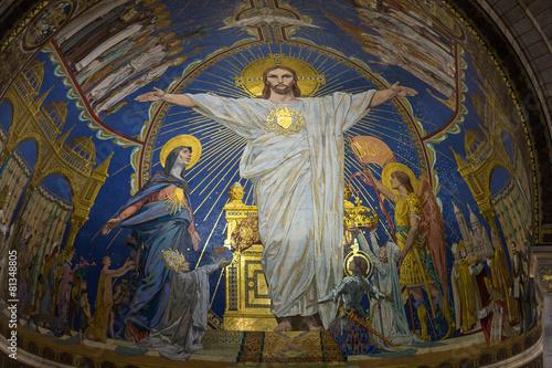 Canvas Print Basilica of the Sacre Coeur on Montmartre, Paris, France