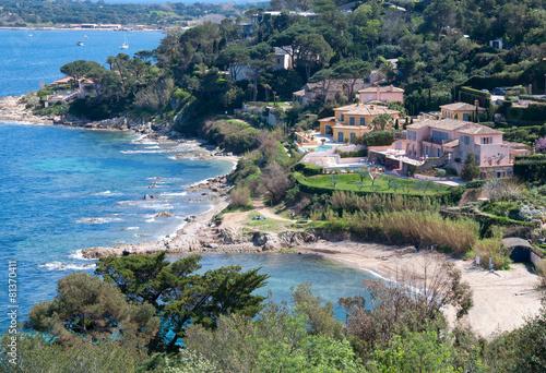 Obraz na płótnie Saint Tropez - Vista dalla collina
