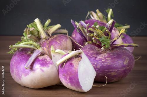 raw fresh red turnips