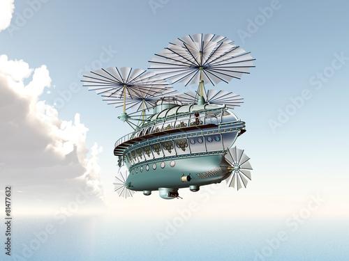 Fantasy Airship #81477632
